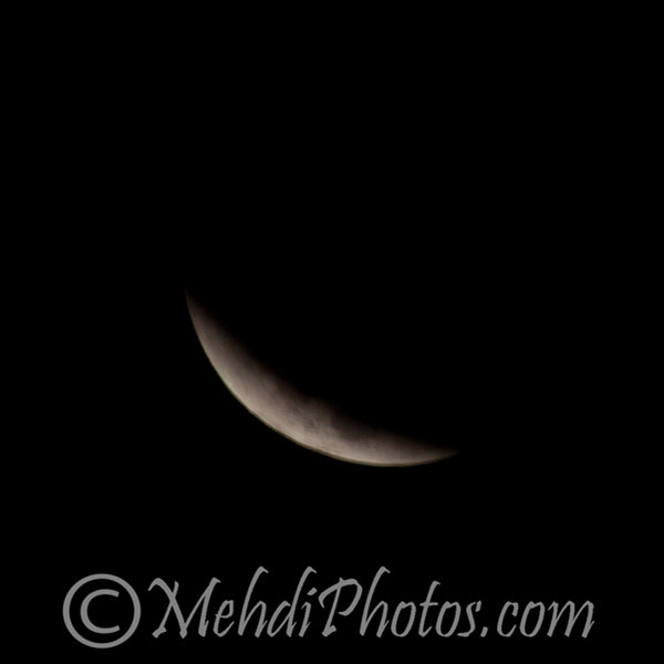 Tiny moon. From this shot I had to use my tripod as I didn't have much light left there. @5:14AM
