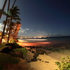 This is the beach of our hotel, It's really beautiful at night.  You can see the lights of Honoapi'ilani Highway going to Lahaina.