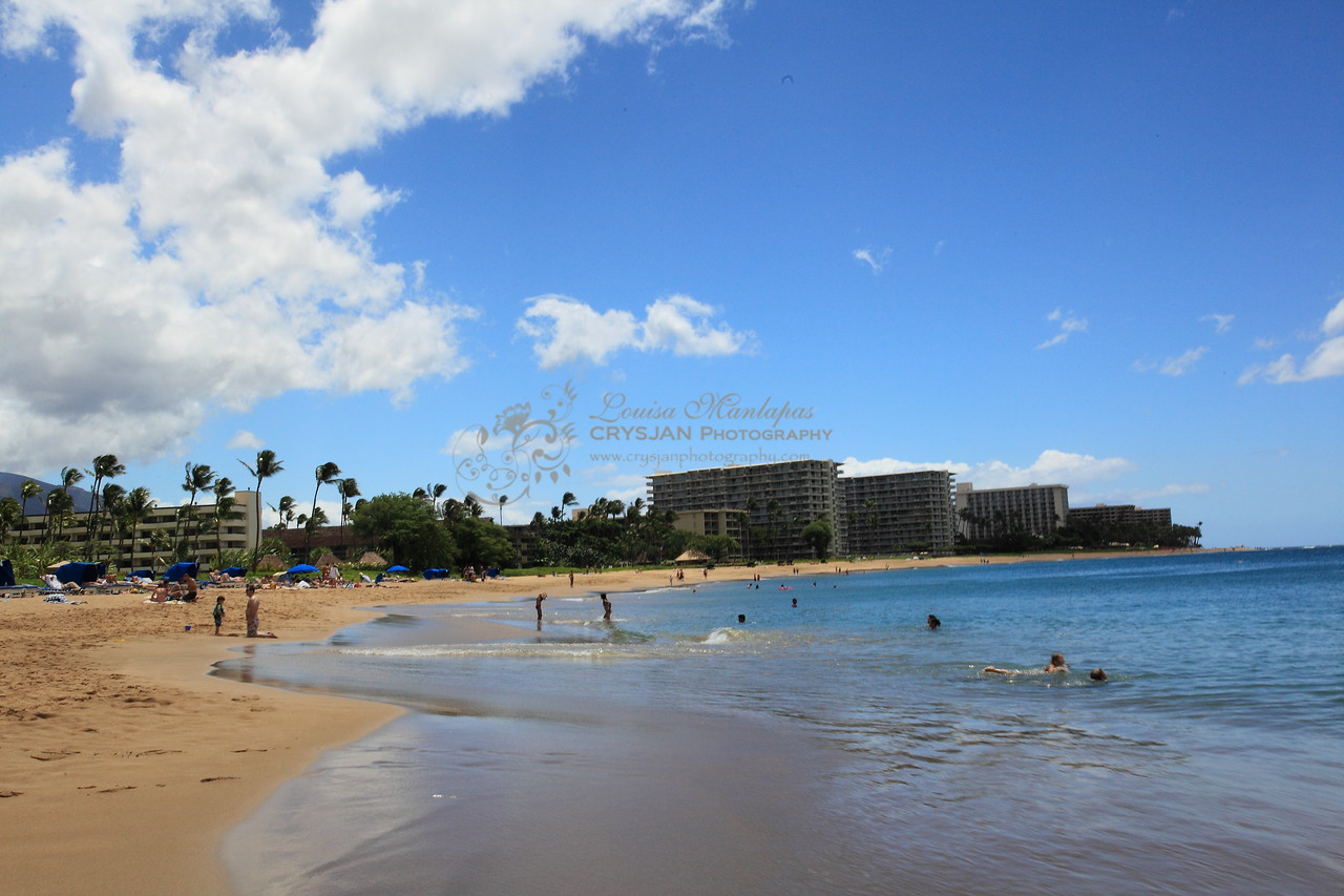This is the Ka'anapali Beach