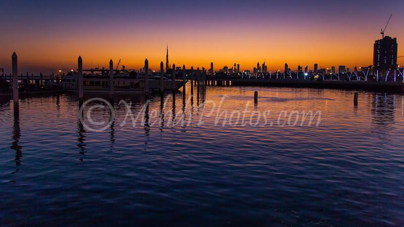 Festival City at sunset.