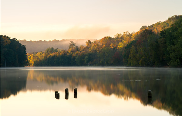 Golden Light on North Park Lake