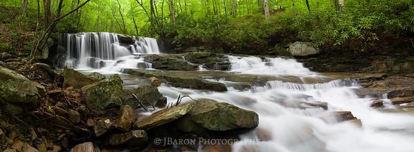 Jonathan Run Falls Panorama 6117-6125