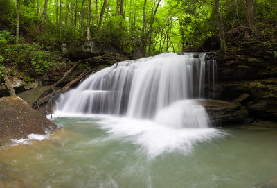 Lower Jonathan Run Falls Panorama 6139-6145