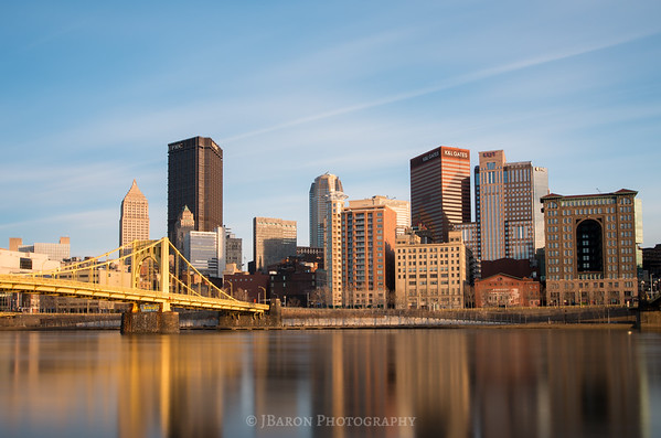 Pittsburgh Skyline from Allegheny Landing - Left