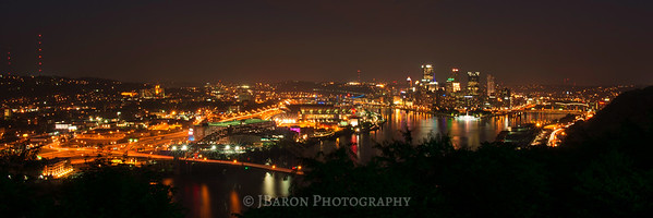 Pittsburgh at Night from the West End Overlook