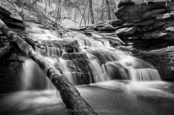 Skunk Run Falls II Monochrome