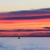 Stunning sunset on Baltic Sea cruise in Northern Europe