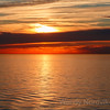 Stunning sunset on Baltic Sea cruise in Northern Europe