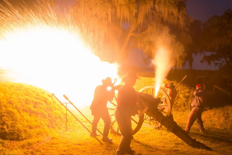 Cannon Firing