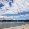 Summer Sun. Bainbridge Ferry; Bainbridge Island, Washington