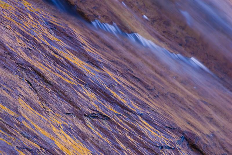 Fluted Metamorphic Rock between two granitic plutons, Glen Aulin.  Copyright © 2008 James McGrew.