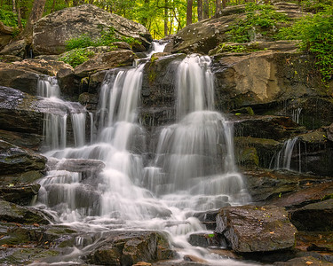 Upper section of the falls at Fort Mountain State Park