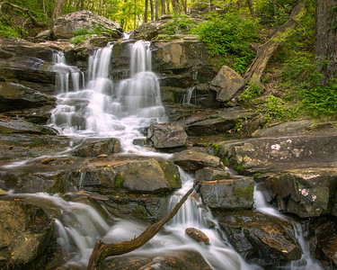 Beautiful waterfall at Fort Mountain State Park