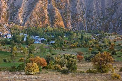 Village in autumn, near Bayburt, Turkey.