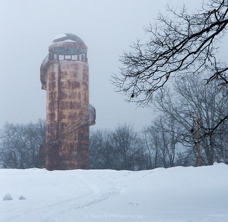 North Park Tower in the Snow