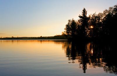Sunset at Five Falls