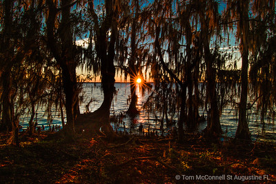 St. Johns River Sunset at Riverdale Park and Boat Ramp, St Augustine, Florida