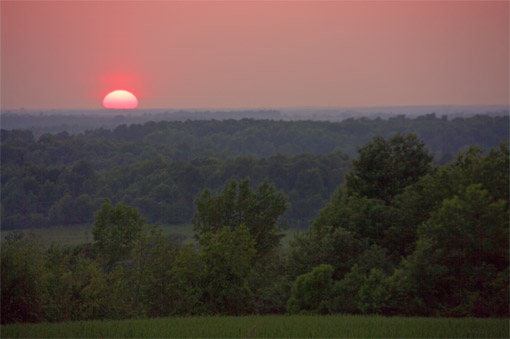 Sunset in the St. Lawrence River Valley
