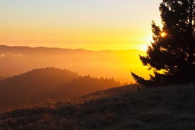 Sunset, Long Ridge OSP.