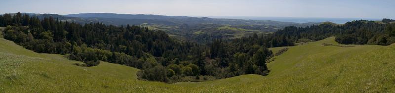 Panoramic view at La Honda Creek OSP