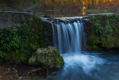 St.Edwards Park waterfall in Autumn.