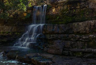 Waterfall at Zilker Botanical Gardens.