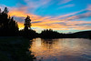 Sunset on the Yellowstone River.