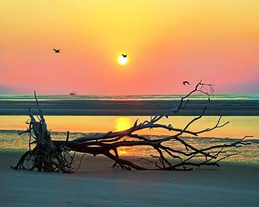 Sunrise on Cabretta Island Beach