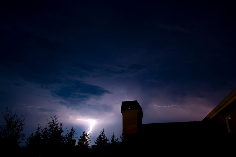 Thunderstorm Night in Snoqualmie