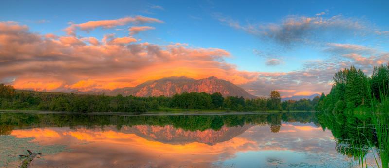 Sunset at Lake Borst