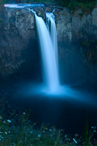 Snoqualmie Falls after Sunset
