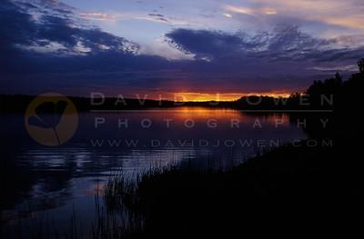 13076V Norris Lake sunset