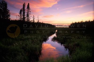 12531 Bennett Lake sunset