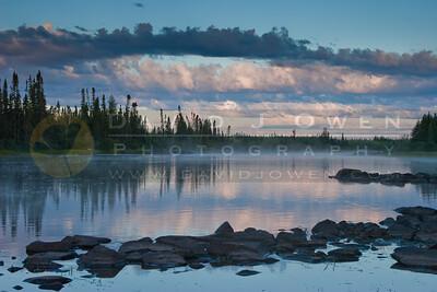 "080706-004-2 Sunrise above ""J"" rapids"