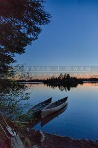 20150531-094 Knife Lake & canoes