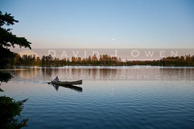20120602-059 Ian Lake One canoe and moon