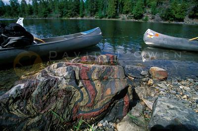 15393 1 Rock at Isle of Pines Knife Lake