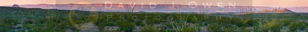 110705-010-1 Sierra Ponce-Mesa sunrise pano