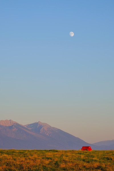 Wide open spaces, Mission Mountain moonlight