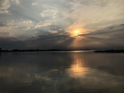 En kväll vid Sandön i början av augusti (mobilfoto)
