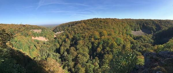 Söderåsens nationalpark, vy från Kopparhatten (mobilfoto)