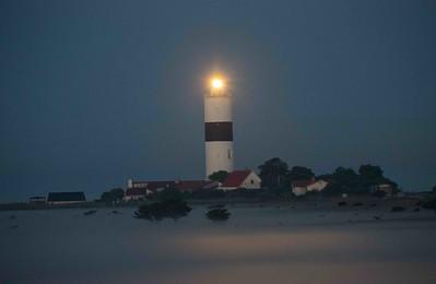 Ölands södra udde, fyrbyn i gryningen