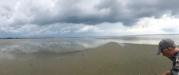 Augustihimmel över Sandön (mobilfoto)