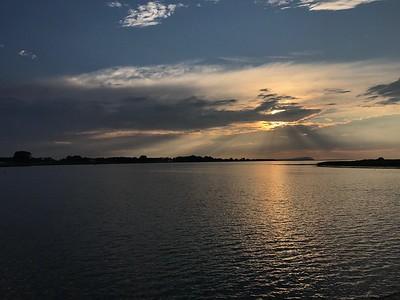 En kväll vid Sandön i slutet av juli (mobilfoto)