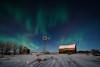 108 Abandoned Farm Aurora in the Moonlight