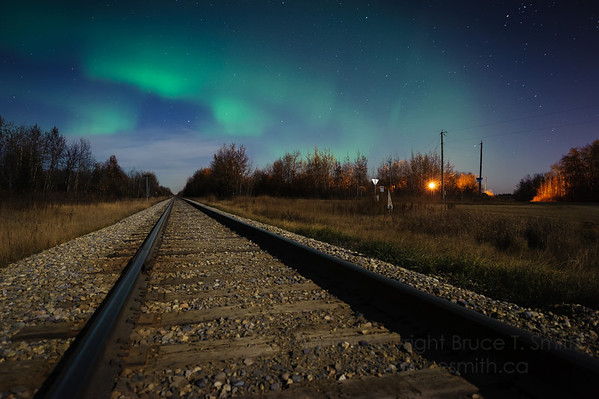 74 Railway and Aurora Borealis