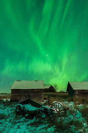 78 Aurora over an abandoned farm