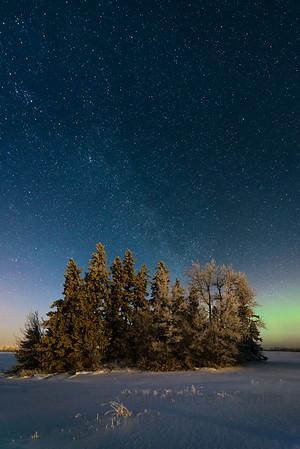 111 Milky Way and Aurora Borealis