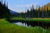 Mountain wilderness pond