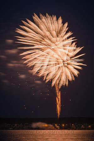 Magnificent fireworks over Alberta Beach for Canada Day, 2013